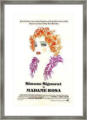 Madame Rosa, Simone Signoret, 1977 Us Framed Print by Everett
