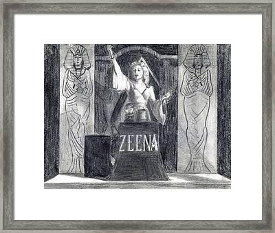 Madame Zeena Framed Print by Mel Thompson