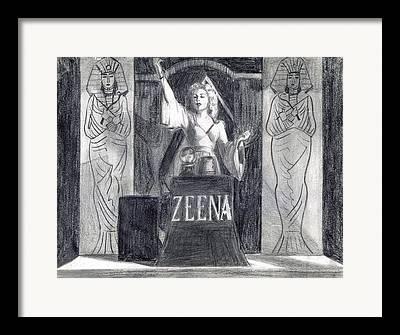 Melodrama Drawings Framed Prints