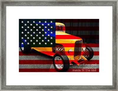 Made In The Usa . 1932 Ford 5 Window Coupe Framed Print by Wingsdomain Art and Photography