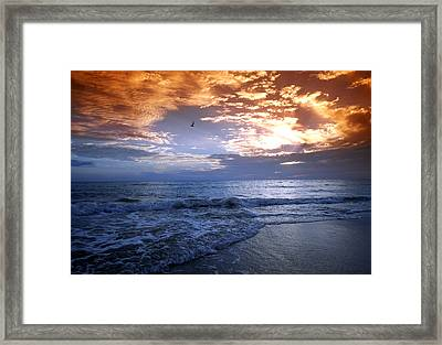 Madeira Fire Sky Framed Print by David Yunker