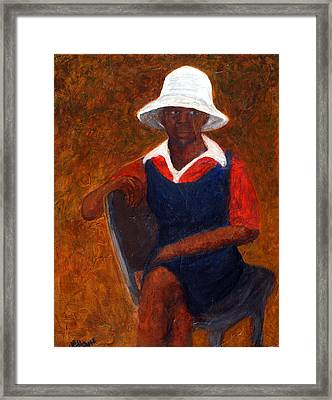 Madge Framed Print by Maureen House