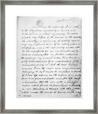Madison: Inaugural, 1813 Framed Print