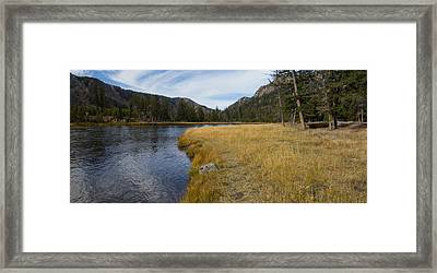 Madison River Banks Framed Print by Twenty Two North Photography