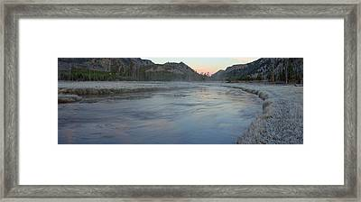 Madison River Before Sunrise Framed Print by Twenty Two North Photography