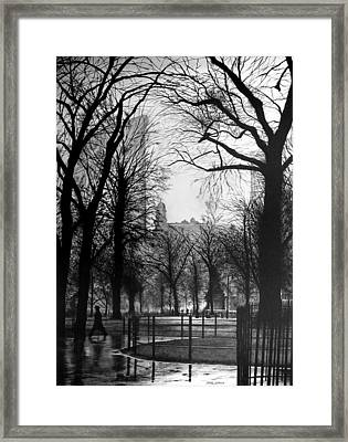 Madison Square Park Framed Print by Jerry Winick