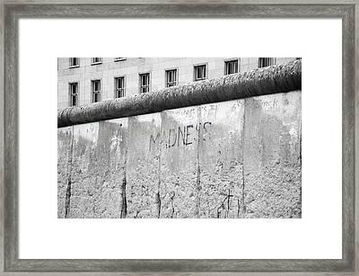 Madness In Berlin Framed Print