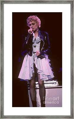 Madonna 1987 B Framed Print by David Plastik