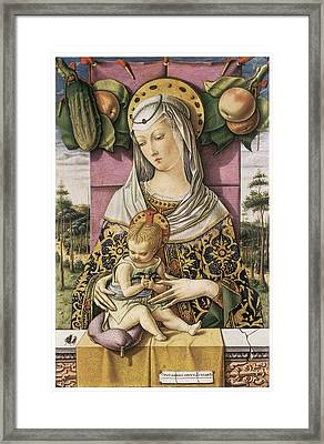 Madonna And Child Framed Print by Carlo Crivelli