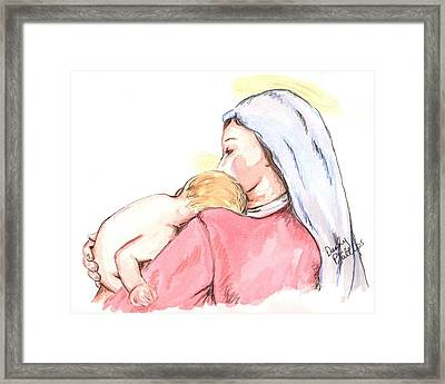 Madonna And Child II Framed Print