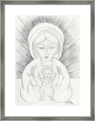 Madonna And Child Framed Print by John Keaton