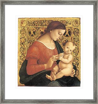 Madonna And Child Framed Print by Luca Signorelli