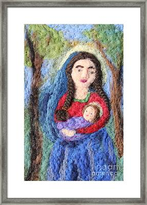 Madonna And Child Framed Print by Nicole Besack