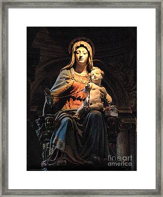 Madonna And Jesus Framed Print by Bob Christopher