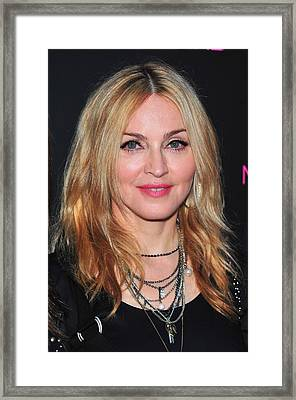 Madonna At In-store Appearance For The Framed Print