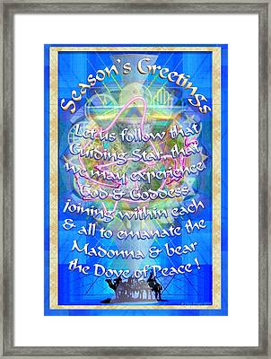 Madonna Dove Chalice-synthesis And Logos With Text Framed Print