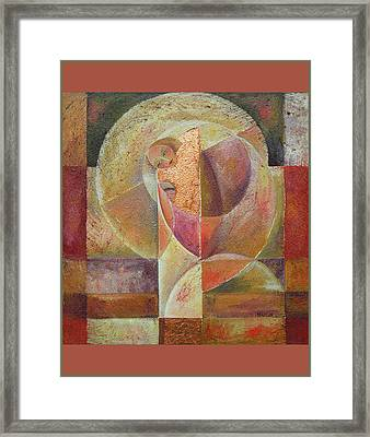 Framed Print featuring the painting Madonna by Leslie Marcus