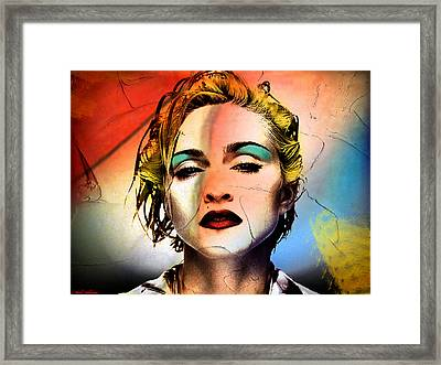 Madonna  Framed Print by Mark Ashkenazi
