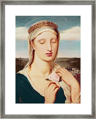 Madonna Framed Print by Simeon Solomon
