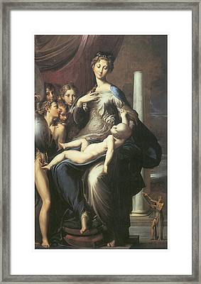 Madonna With The Long Neck Framed Print by Parmigianino