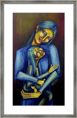 Madre E Hija Framed Print