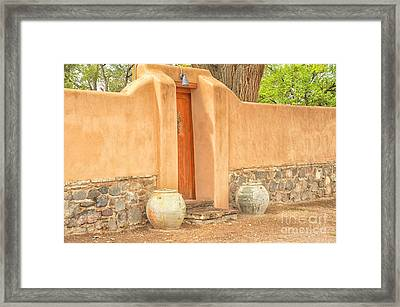 Madrid Door Framed Print by Tamera James