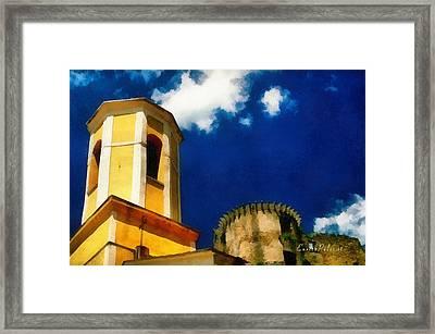 Madrignano Castello E Campanile Framed Print