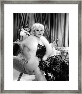 Mae West, 52437, Go West Young Man, 1936 Framed Print