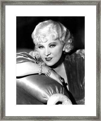 Mae West, Portrait Framed Print by Everett