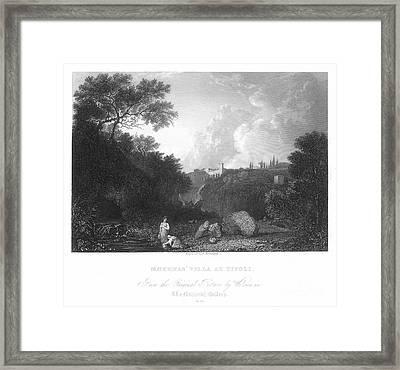 Maecenas Villa At Tivoli Framed Print by Granger