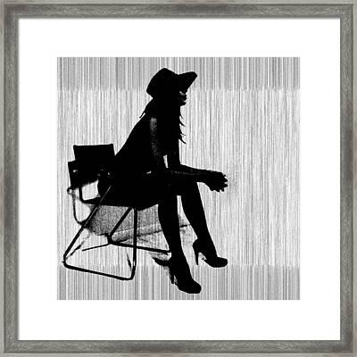 Magdalen In Black Framed Print by Naxart Studio