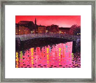Magenta Evening Dublin Framed Print by John  Nolan