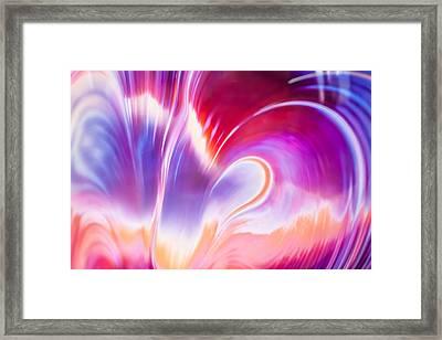 Magenta Wave Framed Print by Adam Pender
