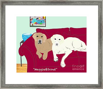 Maggie And Scout Framed Print by Cheryl Snyder