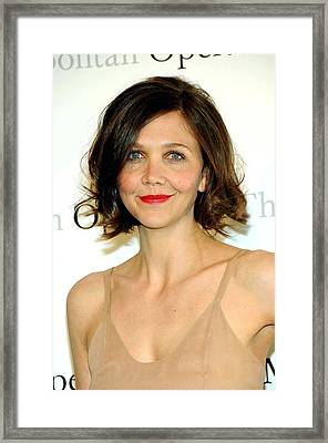 Maggie Gyllenhaal At Arrivals Framed Print by Everett