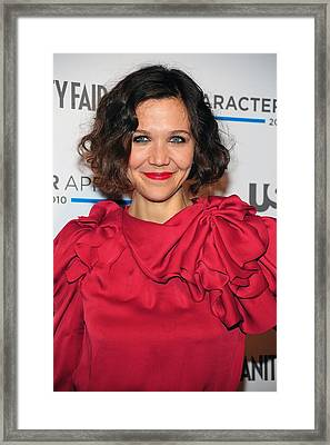 Maggie Gyllenhaal At Arrivals For Usa Framed Print by Everett