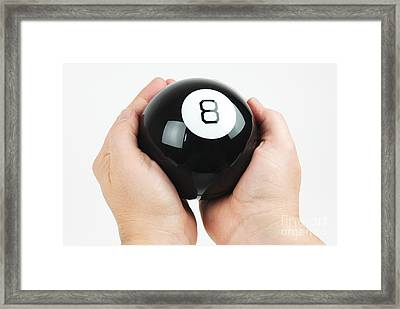 Magic Eight Ball Framed Print by Photo Researchers, Inc.