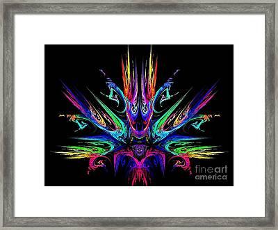 Magic Fire Framed Print by Klara Acel