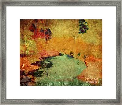 Magic In Autumn Mist Framed Print by Sacred  Muse