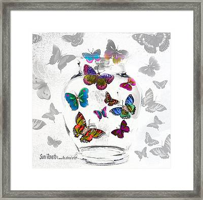 Magic Moth Jar Framed Print