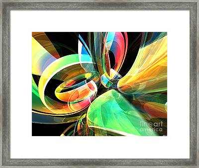 Framed Print featuring the digital art Magic Rings by Phil Perkins