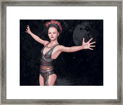 Framed Print featuring the painting Magic Weaver by Maynard Ellis