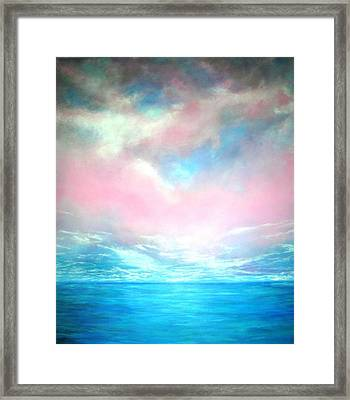 Framed Print featuring the painting Magical Indian Ocean  by Marie-Line Vasseur