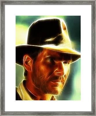 Magical Indiana Jones Framed Print by Paul Van Scott
