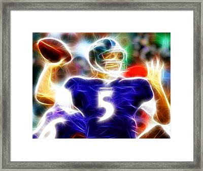 Magical Joe Flacco Framed Print by Paul Van Scott