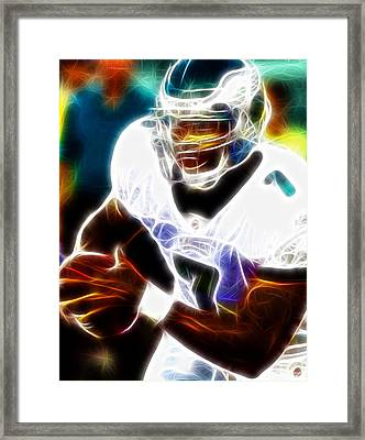 Magical Michael Vick Framed Print by Paul Van Scott