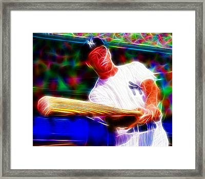 Magical Mickey Mantle Framed Print by Paul Van Scott