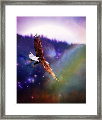 Framed Print featuring the digital art Magical Moment 2 by Carrie OBrien Sibley