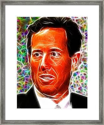 Magical Rick Santorum Framed Print by Paul Van Scott