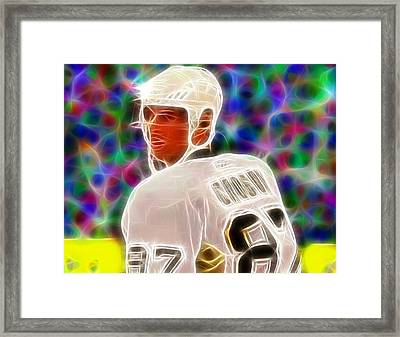 Magical Sidney Crosby Framed Print by Paul Van Scott